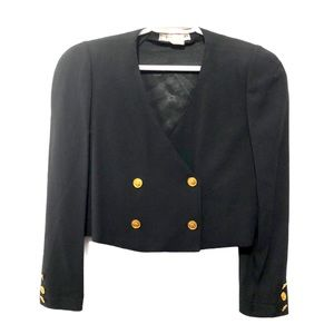 Vntg Sonia Rykiel Cropped Military Style Jacket M